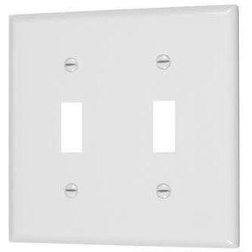 VISTA 2-GANG TOGGLE SWITCH PLATE - WHITE-VISTA-VISTA-Default-Covalin Electrical Supply