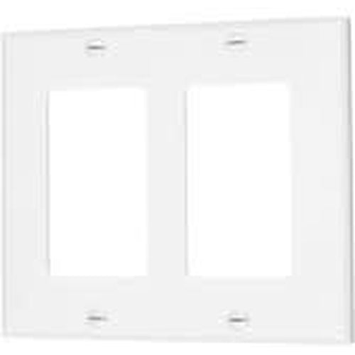 VISTA 2-GANG DECORATIVE PLATE - WHITE-VISTA-VISTA-Default-Covalin Electrical Supply