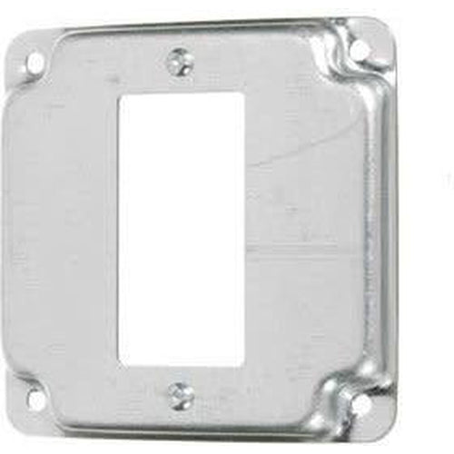 8376 - 4'' SQUARE -DECORATOR/GFCI - RAISED 3/8''-VISTA-VISTA-Default-Covalin Electrical Supply