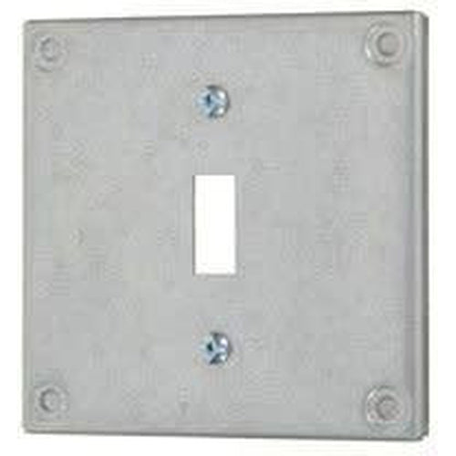 8361 - 4'' SQUARE COVER - SINGLE SWITCH - RAISED 3/8''-VISTA-VISTA-Default-Covalin Electrical Supply