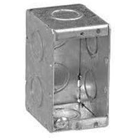 MBS-1K - 2 1/2'' DEEP 1 GANG MASONRY BOX W/CONCENTRIC KNOCKOUTS-VISTA-VISTA-Default-Covalin Electrical Supply