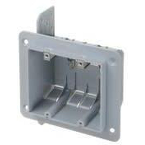 2 GANG PLASTIC BOX WITH CLAMPS - 37 CU. IN.-VISTA-VISTA-Default-Covalin Electrical Supply