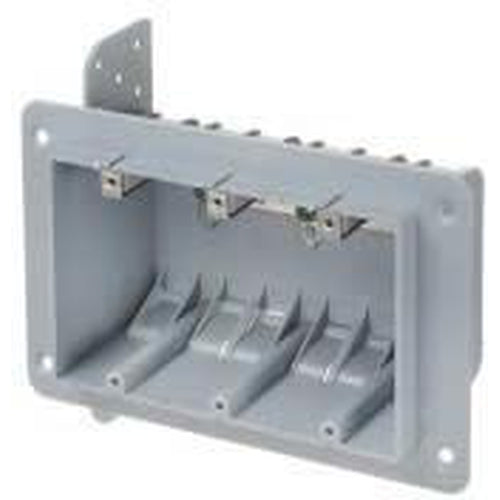 3 GANG PLASTIC BOX WITH CLAMPS - 51 CU. IN.-VISTA-VISTA-Default-Covalin Electrical Supply