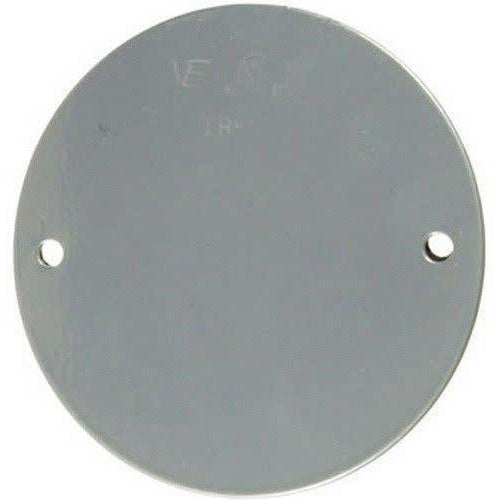 ROUND WEATHERPROOF COVER W/GASKET - WHITE-VISTA-VISTA-Default-Covalin Electrical Supply