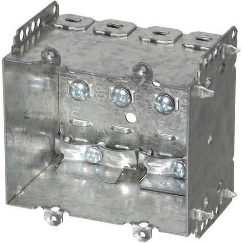2104-LLE2 - 2 1/2'' DEEP BOX - 2 GANG WELDED W/NAILING LOOP & CLAMPS-VISTA-VISTA-Default-Covalin Electrical Supply