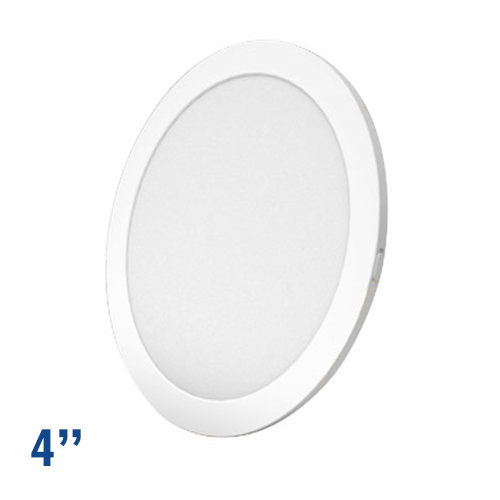 LED FLUSH MOUNT 4 DIAMETER, 6W 400LMN, 5000K, WHITE