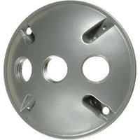 ROUND 3-HOLE COVER W/GASKET - GREY-VISTA-VISTA-Default-Covalin Electrical Supply