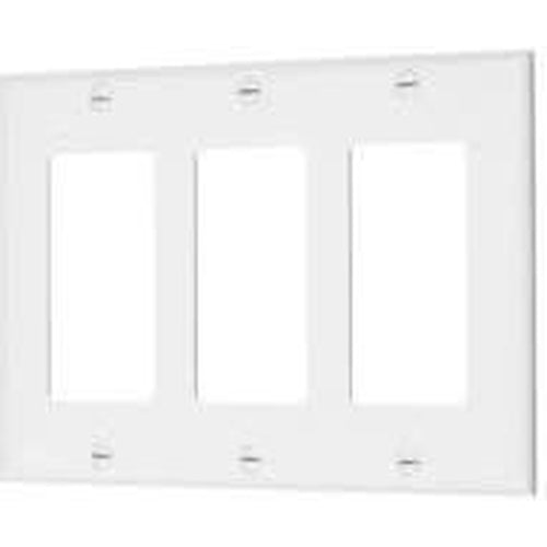 VISTA 3-GANG DECORATIVE PLATE - WHITE-VISTA-VISTA-Default-Covalin Electrical Supply