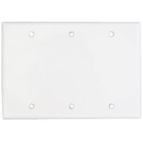 3 GANG BLANK WALL PLATE, WHITE-ORTECH-CROWN DISTRIBUTION-Default-Covalin Electrical Supply