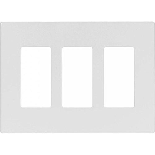 VISTA 3-GANG SCREWLESS DECORATIVE PLATE - WHITE-VISTA-VISTA-Default-Covalin Electrical Supply