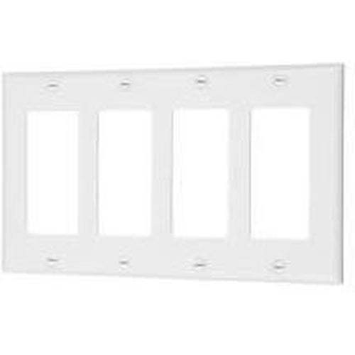 VISTA 4-GANG DECORATIVE PLATE - WHITE-VISTA-VISTA-Default-Covalin Electrical Supply