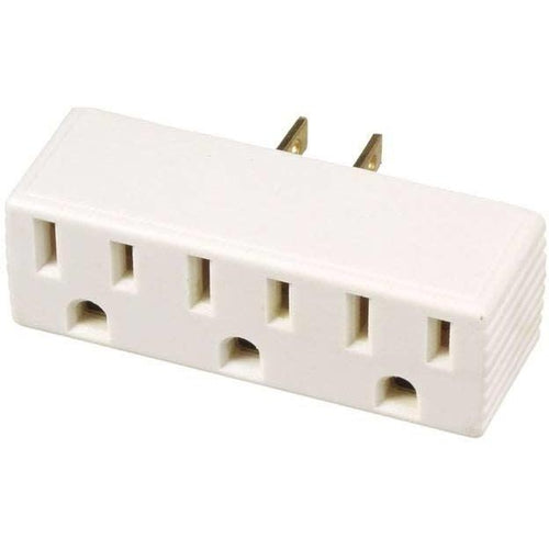 3 WIRE TRIPLE TAP ADAPTER - WHITE-VISTA-VISTA-Default-Covalin Electrical Supply