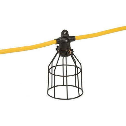 15M STRING LIGHT CORD - 12/3 STW - 5 METAL CAGES - YELLOW-VISTA-VISTA-Default-Covalin Electrical Supply