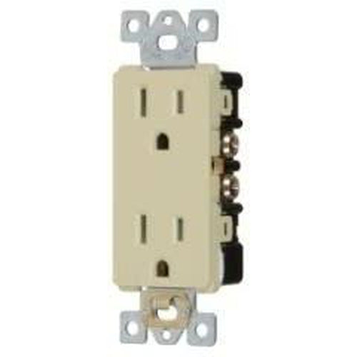 15A TAMPER RESISTANT - DECORATOR DUPLEX OUTLET - - IVORY-VISTA-VISTA-Default-Covalin Electrical Supply