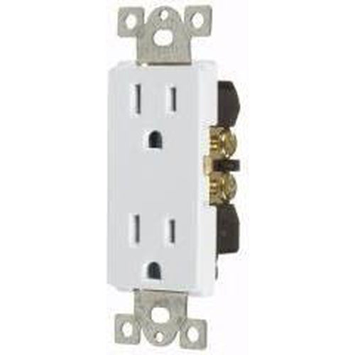 15A DECORATOR DUPLEX OUTLET - WHITE-VISTA-VISTA-Default-Covalin Electrical Supply