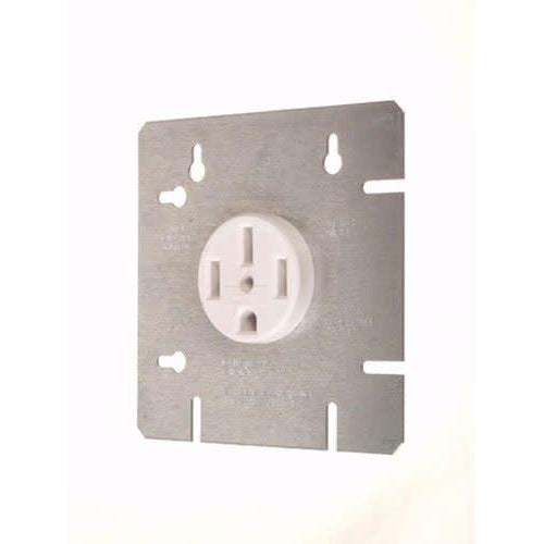 RANGE OUTLET W/ 4 11/16'' COVER PLATE - 50A-120/240V - WHITE-VISTA-VISTA-Default-Covalin Electrical Supply
