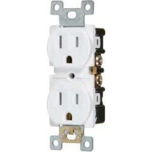 15A/125V HEAVY DUTY DUPLEX OUTLET - WHITE-VISTA-VISTA-Default-Covalin Electrical Supply