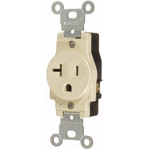 20A/125V SINGLE STANDARD OUTLET - IVORY-VISTA-VISTA-Default-Covalin Electrical Supply