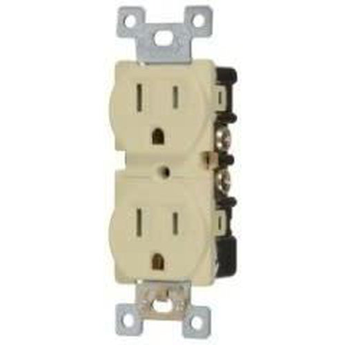 15A TAMPER RESISTANT - DUPLEX OUTLET - IVORY-VISTA-VISTA-Default-Covalin Electrical Supply