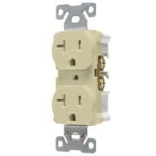 20A/125V TAMPER RESISTANT - STANDARD DUPLEX OUTLET - IVORY-VISTA-VISTA-Default-Covalin Electrical Supply