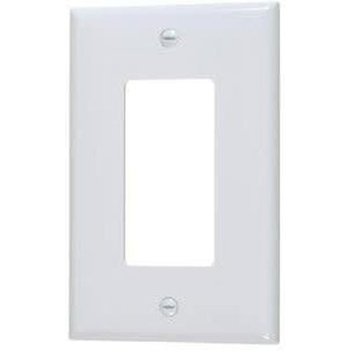 MID SIZE SINGLE DECORATIVE PLATE - WHITE-VISTA-VISTA-Default-Covalin Electrical Supply