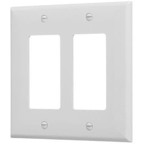 2-GANG MID SIZE DECORATIVE PLATE - WHITE-VISTA-VISTA-Default-Covalin Electrical Supply