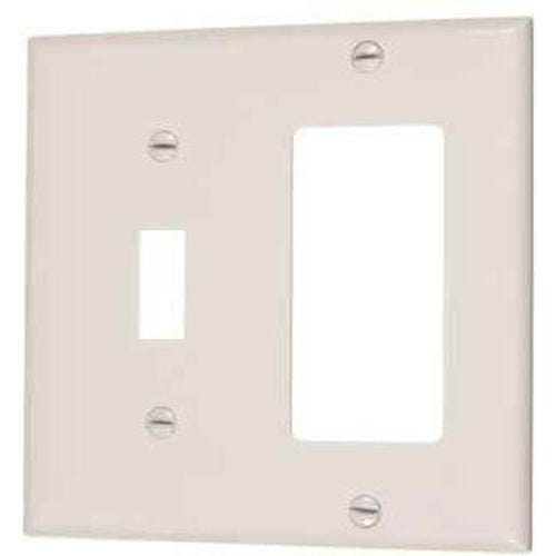COMBO 1 TOGGLE SWITCH & 1 DECORATOR OUTLET - IVORY-VISTA-VISTA-Default-Covalin Electrical Supply