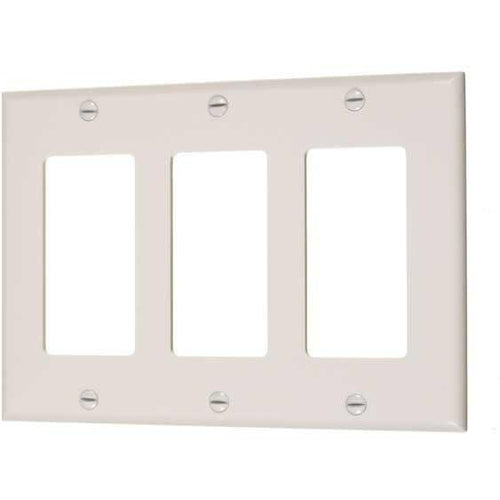 3-GANG DECORATIVE PLATE - IVORY-VISTA-VISTA-Default-Covalin Electrical Supply