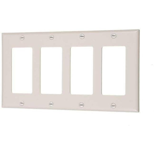 4-GANG DECORATIVE PLATE - IVORY-VISTA-VISTA-Default-Covalin Electrical Supply