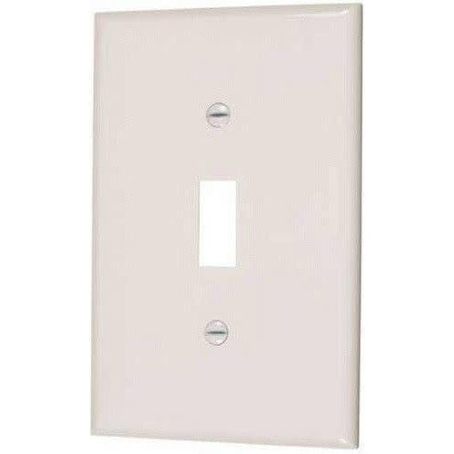 SINGLE MID SIZE TOGGLE SWITCH PLATE - IVORY-VISTA-VISTA-Default-Covalin Electrical Supply