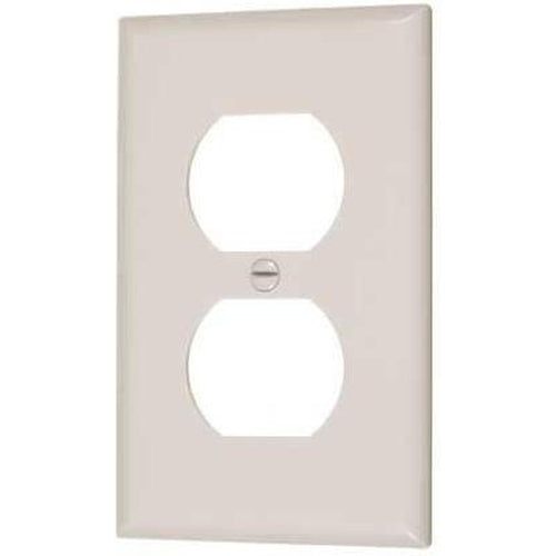 DUPLEX OUTLET PLATE - SINGLE - IVORY-VISTA-VISTA-Default-Covalin Electrical Supply
