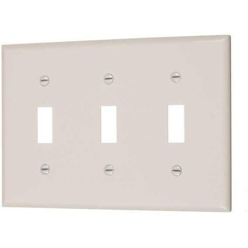 TRIPLE TOGGLE SWITCH PLATE - IVORY-VISTA-VISTA-Default-Covalin Electrical Supply
