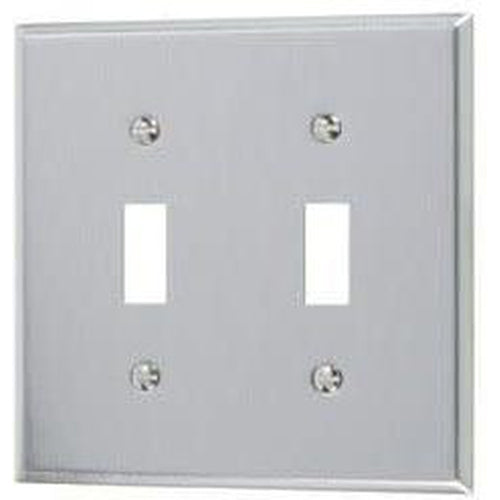 2-GANG TOGGLE PLATE #430 S.S GRADE-VISTA-VISTA-Default-Covalin Electrical Supply