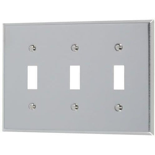 3-GANG TOGGLE PLATE #430 S.S GRADE-VISTA-VISTA-Default-Covalin Electrical Supply