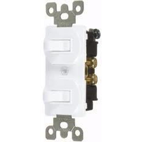 15A COMBINATION DUAL TOGGLE SWITCHES - S.P. - WHITE-VISTA-VISTA-Default-Covalin Electrical Supply