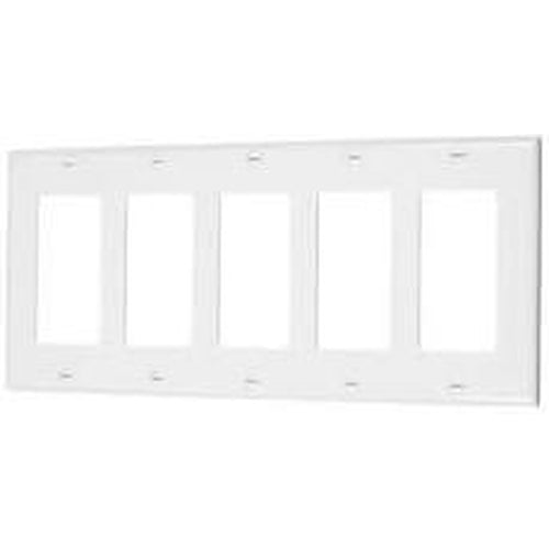 VISTA 5-GANG DECORATIVE PLATE - WHITE-VISTA-VISTA-Default-Covalin Electrical Supply