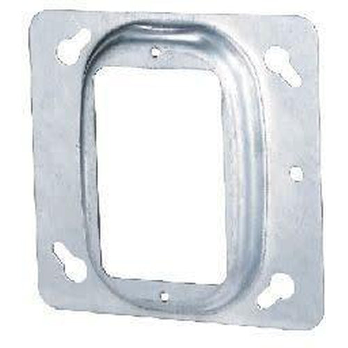 52C13 4'' SQUARE COVER-1 DEVICE-RAISED 1/2''-ORTECH-CROWN DISTRIBUTION-Default-Covalin Electrical Supply