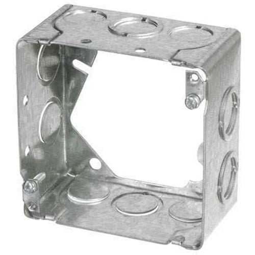 53171-ER - 2 1/8'' DEEP SQUARE EXTENSION BOX W/KNOCOUTS-VISTA-VISTA-Default-Covalin Electrical Supply