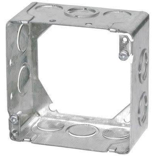 53171-K - 2 1/8'' DEEP SQUARE EXTENSION BOX W/KNOCOUTS-VISTA-VISTA-Default-Covalin Electrical Supply