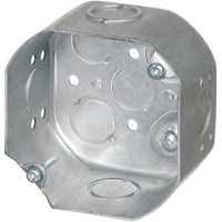 54171-K DEEP OCTAGON BOX WITH KNOCKOUTS AND CLAMPS-ORTECH-CROWN DISTRIBUTION-Default-Covalin Electrical Supply
