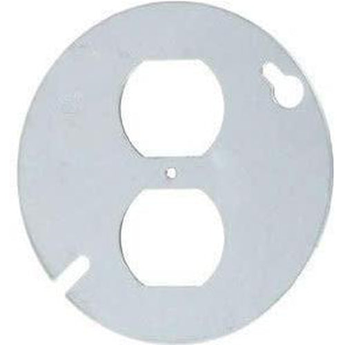 54C65 - 4'' ROUND COVER - DUPLEX OUTLET-VISTA-VISTA-Default-Covalin Electrical Supply