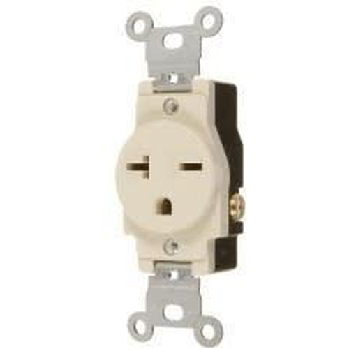 20A/250V SINGLE STANDARD OUTLET - IVORY-VISTA-VISTA-Default-Covalin Electrical Supply