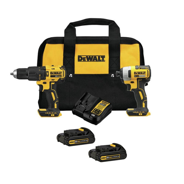 *KIT* 20V MAX 2 TOOL (DCD778 & DCF787) W/ 2 BATTERIES AND BAG