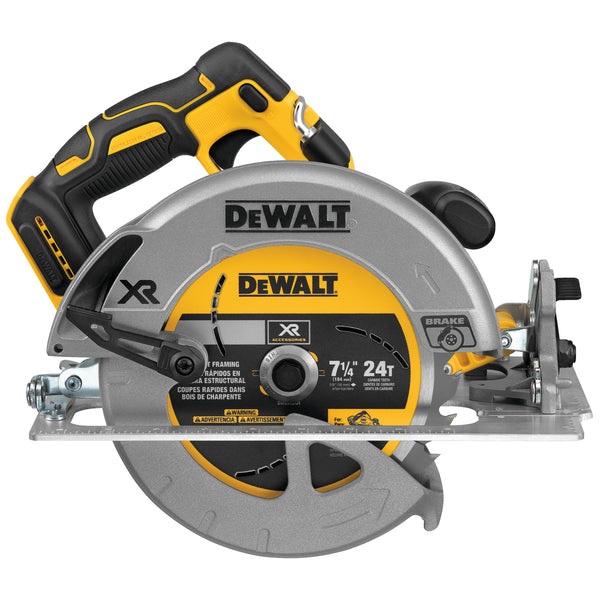 "BRUSHLESS20V MAX XR 7-1/4"" CIRCULAR SAW WITH BRAKE TOOL ONLY"