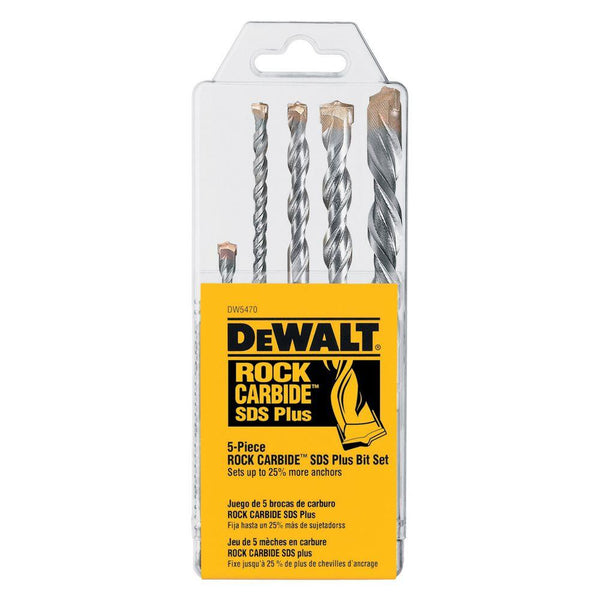 5 PC. ROCK CARBIDE™ SDS+ HAMMER BIT SET