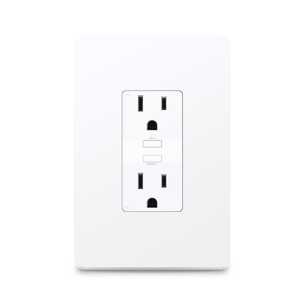 TP LINK KASA SMART WI-FI POWER RECEPTACLE, 2-SOCKETS