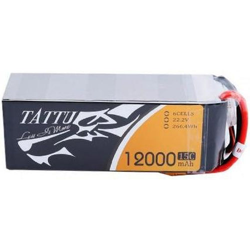 TATTU 15C 6S 12000MAH LIPO BATTERY PACK WITH XT90 PLUG