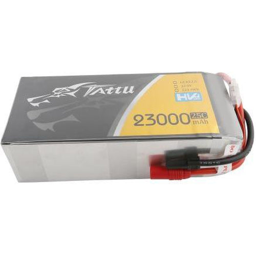TATTU 22.8V 25C 6S 23000MAH LIPO BATTERY WITH AS150+XT150 PLUG FOR UAV