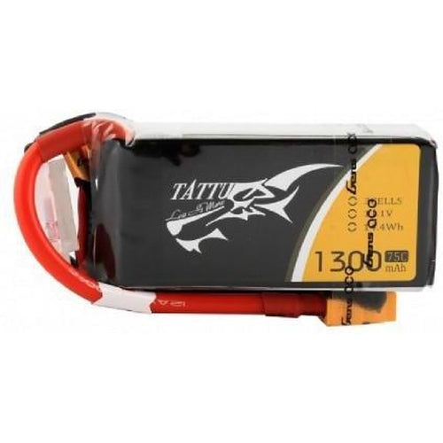 TATTU 1300MAH 3S 75C LIPO BATTERY PACK WITH XT60 PLUG