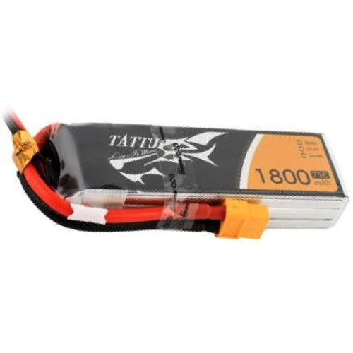 TATTU 1800MAH 75C 3S1P LIPO BATTERY PACK WITH XT60 PLUG